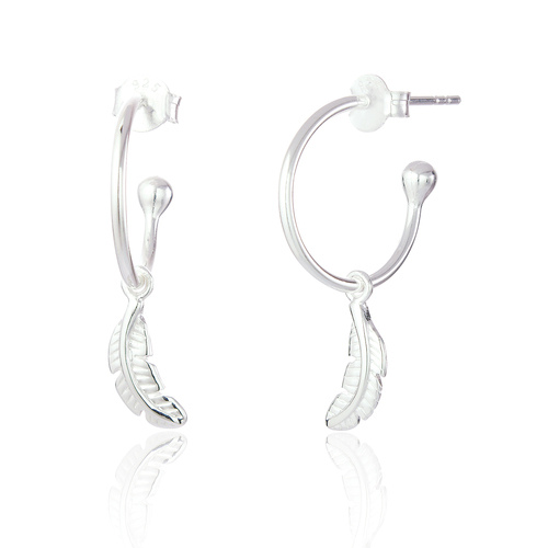 Sterling-silver-mona-hanging-feather-hoop-earrings-accessories-boutique-berkshire