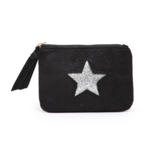 Black Mini Sparkle Star Coin Purse - Accessories For Girls - Spirit & Grace Style