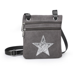 Grey Mini Sparkle Messenger Bag - Accessories For Girls - Spirit & Grace Style