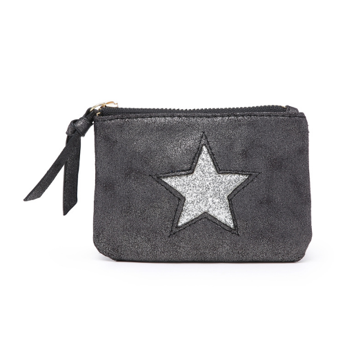 Grey Mini Sparkle Star Coin Purse - Accessories For Girls - Spirit & Grace Style
