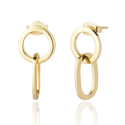 Gold-ovate-hanging-hoop-stud-earrings-fashion-boutique-berkshire-spirit-grace-style