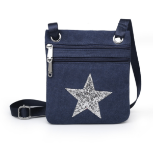 Blue Mini Sparkle Messenger Bag - Accessories For Girls - Spirit & Grace Style