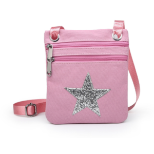 Pink Mini Sparkle Messenger Bag - Accessories For Girls - Spirit & Grace Style