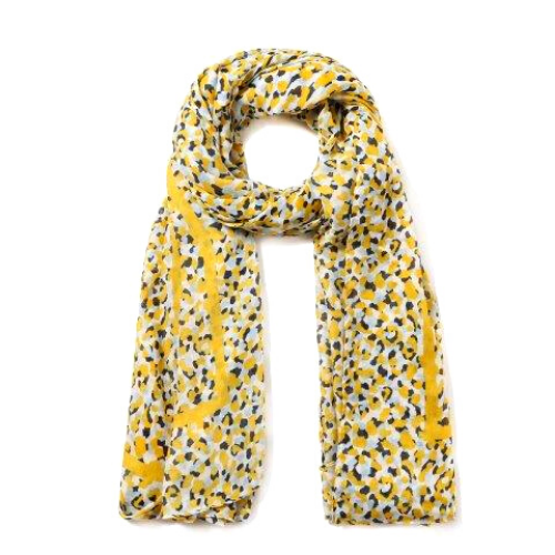bright-Yellow-blue-neon-leopard-dots-scarf-fashion-accessories-boutique-holyport-berkshire