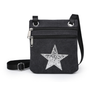 Black Mini Sparkle Messenger Bag - Accessories For Girls - Spirit & Grace Style
