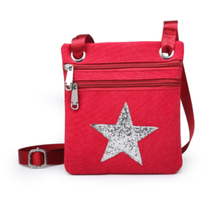 Red Mini Sparkle Messenger Bag - Accessories For Girls - Spirit & Grace Style