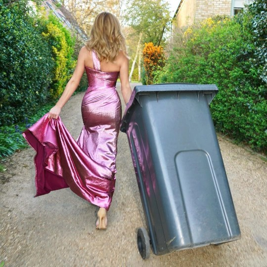 Amanda Holden - Dress Up to put the bins out!