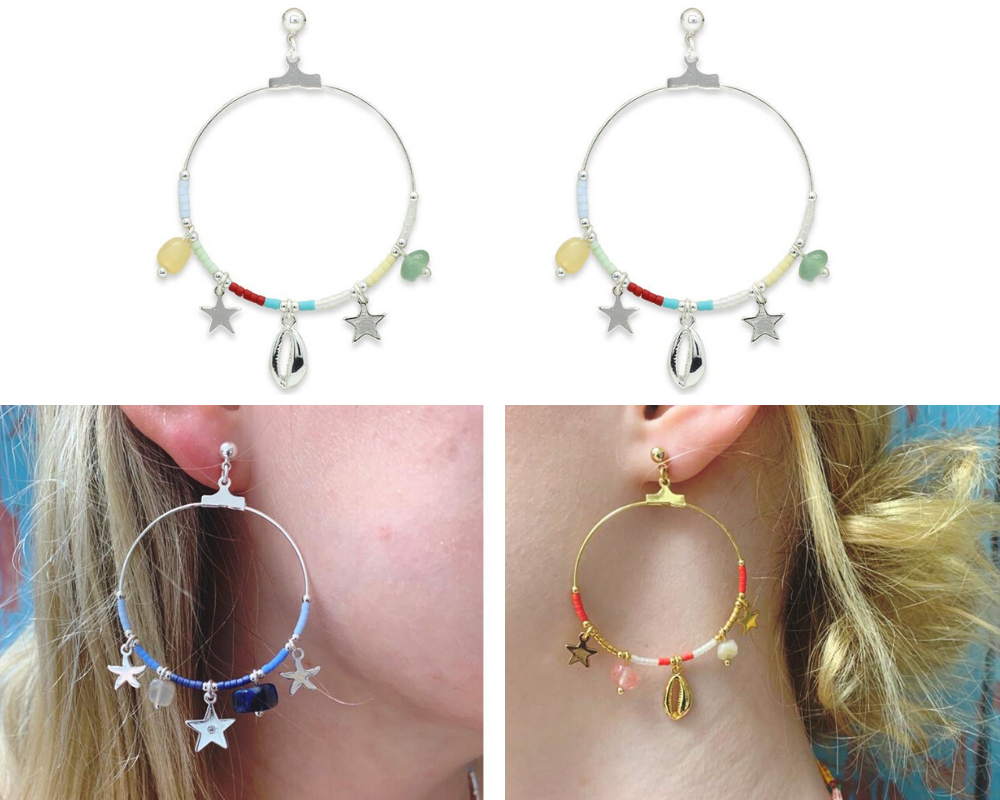 Beach Themed Statement Earrings & Hoops - Spirit & Grace Style