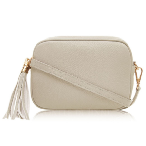 Cream Crossbody Bag with Tassel