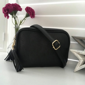 Black Crossbody Bag. Box Clutch Bag. Interchangeable Strap