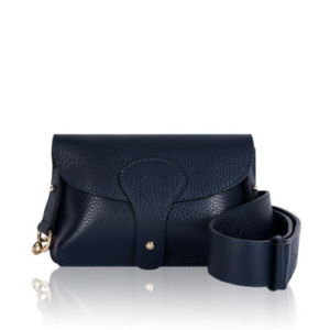 Navy Blue Mini Crossbody Bag. Across the Body Bag with Chunky Strap, Detachable Strap