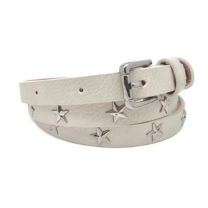 Light Grey Star Studded Belt