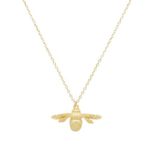 Sterling-Silver-24K-Gold-Plated-Bumble-Bee-Pendant-Necklace-Spirit-Grace-Style-Jewellery-Berkshire-Boutique
