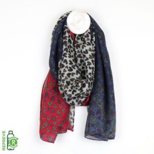 Colourful Heart Print Recycled Scarf