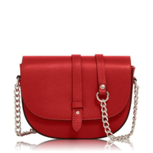 Fire Engine Red Chain Crossbody Bag