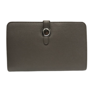 Dark Grey Hermes Dogon Duo Purse Inspired Wallet - Bags & Straps - Spirit & Grace Style