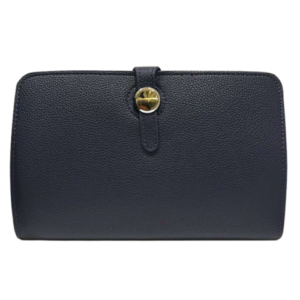 Navy Blue Hermes Dogon Duo Purse Inspired Wallet - Bags & Straps - Spirit & Grace Style