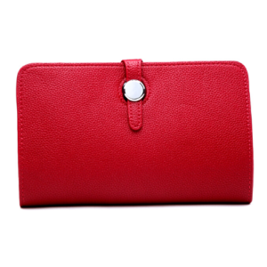 Bright Red Hermes Dogon Duo Purse Inspired Wallet - Bags & Straps - Spirit & Grace Style