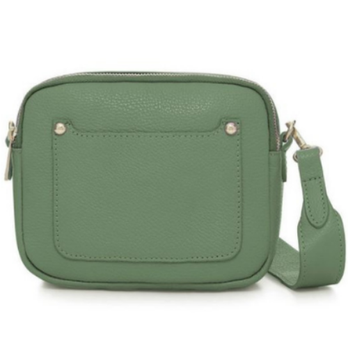 Dusty-Green-Double-Zipped-Leather-Crossbody-Camera-Bag-Berkshire-Accessories-Boutique-Spirit-Grace-Style